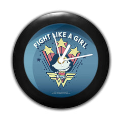 DC Comics -Wonder Women Fight Like A Girl Table Clock Gift Set Birthday Gift