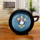 DC Comics Wonder Woman Fight Like A Girl Table Clock