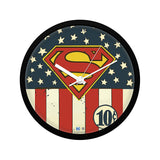 DC Comics Superman Logo Flag Wall Clock