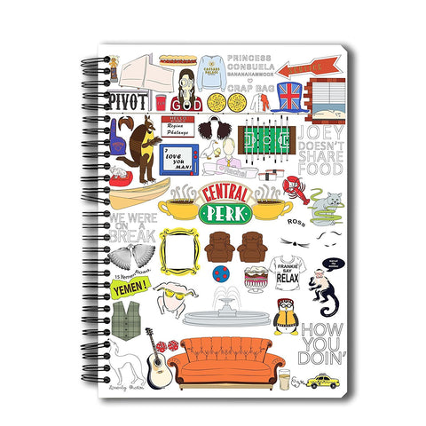 Friends TV Series Doodle A5 Notebook