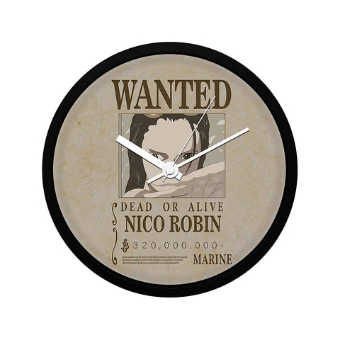 One Piece Nico Robin Wanted Poster - Wall Clock