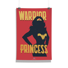 DC Comics-Wonder Women Warrior Princess Wall Décor Poster | Poster for Home | Poster for Office |[ Frame Not Included ] Size A3 [12 x 18 inchs ]