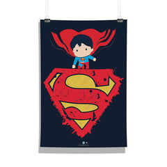 DC Comics-Little Superman Wall Décor Poster | Poster for Home | Poster for Office |[ Frame Not Included ] Size A3 [12 x 18 inchs ]