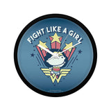DC Comics Wonder Woman Fight Like A Girl Wall Clock