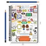 Friends TV Series Combo Pack of 2 Doodle Notebook and Magnetic Bookmarks
