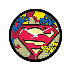 "DC Comics- Superman Comic Logo ""Wall Clock Gift Set Birthday Gift"