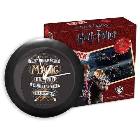 Harry Potter - to Use Magic Now Table Clock