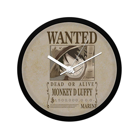 One Piece Monkey D Luffy Wanted Poster - Wall Clock