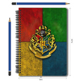 Harry Potter Combo Pack of 2 House Crest Notebook and Magnetic Bookmarks