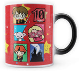 Harry potter Hogwarts Chibi 10th Birthday Morphing Magic Heat Sensitive Coffee Mugs