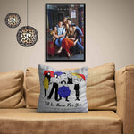 Friends TV Series Umbrella Satin Cushion Cover