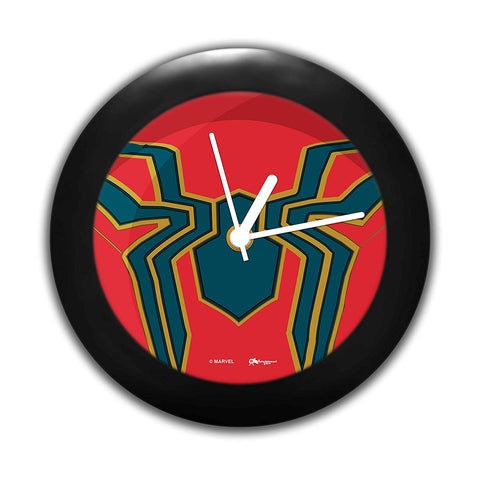 Marvel Iron Spider Logo Table Clock