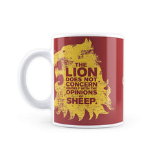 MC SID RAZZ Game of Thrones Lion Sheep Coffee Mugs Officially Licensed by HBO (Home Box Office), USA