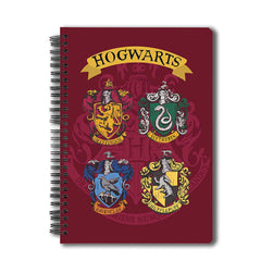 "Harry Potter-All Crest"" Notebook A5 Size"