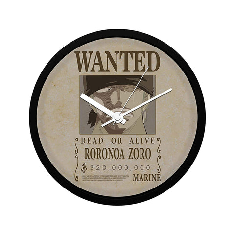 One Piece Roronoa Zoro Wanted Poster - Wall Clock