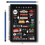 Friends TV Series Infographic A5 Notebook
