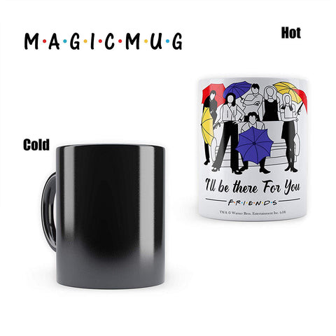 "Friends TV Series -Umbrella New  Morphing Magic Heat Sensitive Mugs "" Cool Coffee & Tea, Cup Drinkware Ceramic Mugs"
