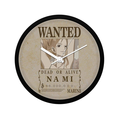 One Piece Nami Wanted Poster - Wall Clock