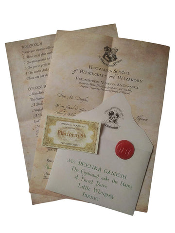 Harry Potter Hogwarts Acceptance Letter | Officially licensed by Warner Bros. USA (brown)