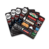 FRIENDS TV Series Infographic Wooden Coaster - Pack of 4