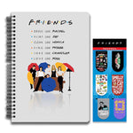 Friends TV Series Combo Pack of 2 Umbrella Notebook and Magnetic Bookmarks