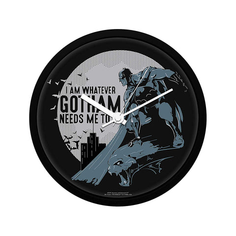 DC Comics I Am Whatever Gotham Needs Me to Be Wall Clock