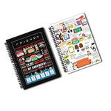 Friends TV Series Pack of 2 (Quotes+ Doodle) A5 Notebook