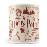 Harry Potter Infographic Red - Coffee Mug