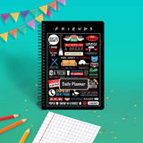 Friends TV Series Combo Pack of 2 Infographic Daily Planner Notebook and Magnetic Bookmarks