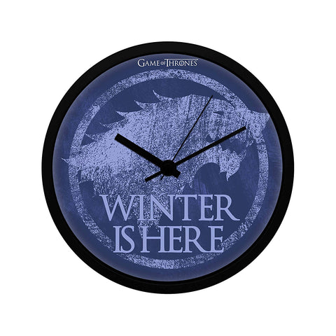 Redwolf Game of Thrones Stark Winter is Here Wall Clock