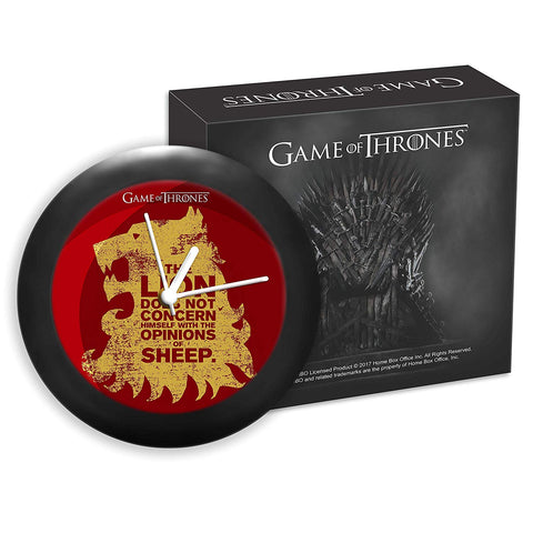 Game of Thrones Lion Sheep Table Clock