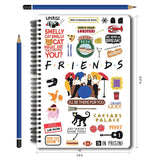 Friends TV Series White Infographic A5 Notebook