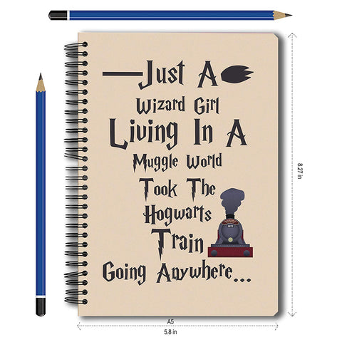 Harry Potter Wizard Girl A5 Notebook