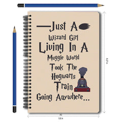 "Harry Potter-Wizard Girl"" Notebook A5 Size"