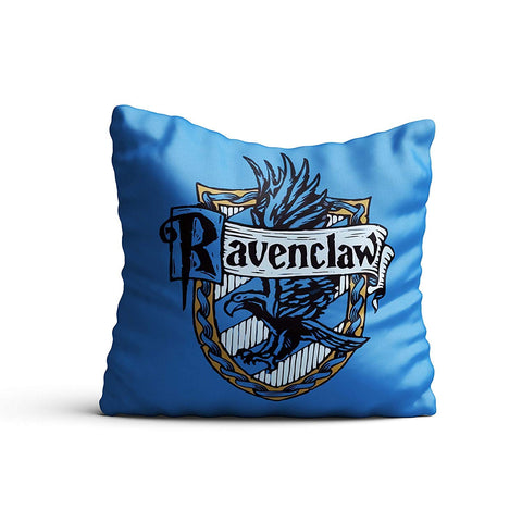 Harry Potter- Raven Claw Satin Cushion Cover (12x12-inch, Multicolour)