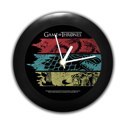 Game of Thrones Flag Table Clock