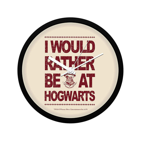 Harry Potter I Would Rather Wall Clock