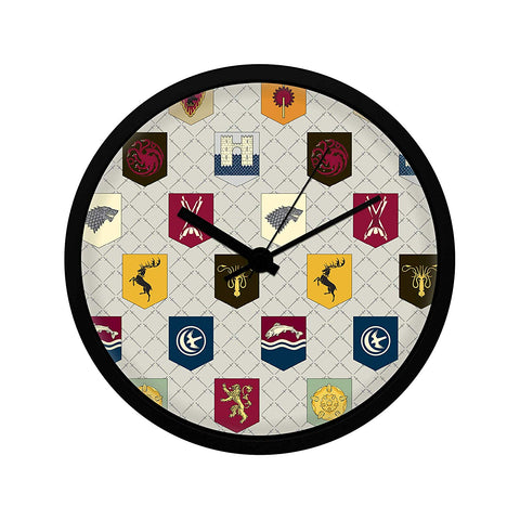 Game of Thrones Pattern Wall Clock