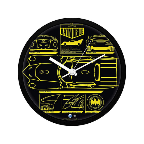 DC Comics Batman Bat-mobile Wall Clock
