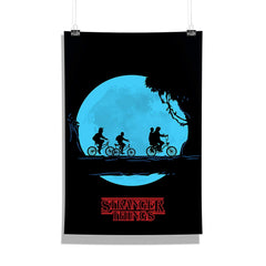 Stranger Things Full Moon Poster Multicolored Wall Poster | Wall Decor for Home and Wall Art for Office | Birthday Gifts and Picture Gifts [Size 12 x 18]