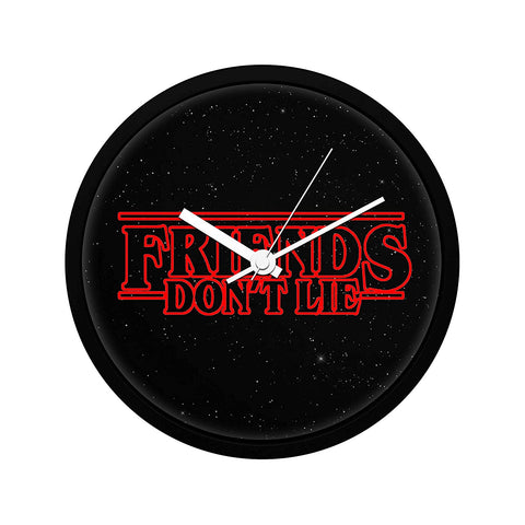 Stranger Things Friends Don't Lie Wall Clock