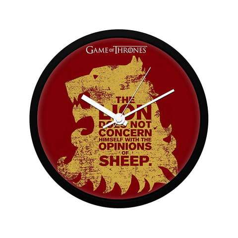 Game of Thrones Lion Sheep Wall Clock