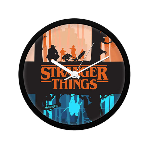 Stranger Things Two Worlds Wall Clock