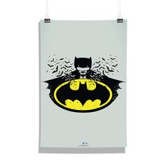 DC Comics-Batman Chibbi Wall Décor Poster | Poster for Home | Poster for Office |[ Frame Not Included ] Size A3 [12 x 18 inchs ]