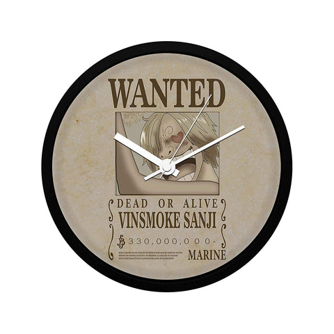 One Piece Sanji Wanted Poster - Wall Clock