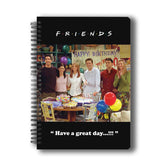 Friends TV Series Happy Birthday Chandler A5 Notebook