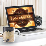 MC SID RAZZ Game of Thrones Westroes Map Magic Mug Cool Coffee & Tea Unique Heat Changing Sensitive Cup Drinkware Ceramic Mugs Official Licensed by HBO,USA