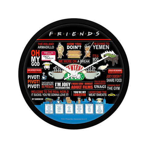 Friends Infographic Quote Wall Clock