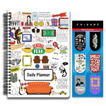 Friends TV Series Combo Pack of 2 Doodle Daily Planner Notebook and Magnetic Bookmarks