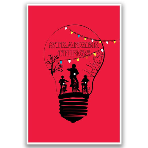 Stranger Things Bulb Poster
